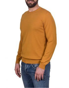 Pullover Girocollo Giallo 70%Cashmere 30%Seta