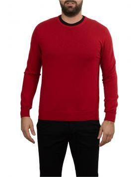 Pullover Girocollo Rosso 100% Cashmere