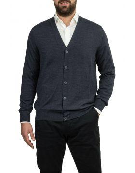 Blu Sable Cardigan Wool Silk Cashmere