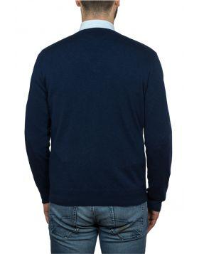 Pullover Girocollo Blu Navy 100% Cashmere-S