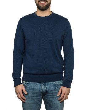 Pullover Girocollo 100%Cashmere Su Misura-blu navy