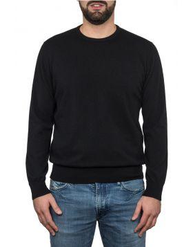 Pullover Girocollo Nero 100% Cashmere